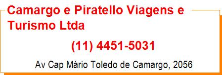 Camargo e Piratello Viagens e Turismo Ltda